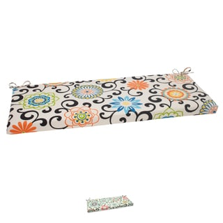 Waverly Sun-n-Shade Pom Pom Play &#39;Lagoon&#39; Bench Cushion