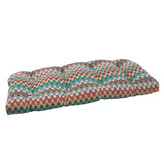 Pillow Perfect Outdoor Blue Nivala Wicker Seat Cushion