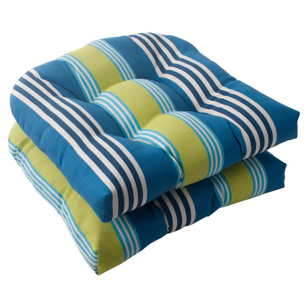 Waverly Sun-n-Shade Oncore Lagoon Wicker Seat Cushions (Set of 2)