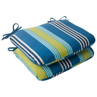 Waverly Sun-n-Shade Oncore Lagoon Rounded Seat Cushions (Set of 2)