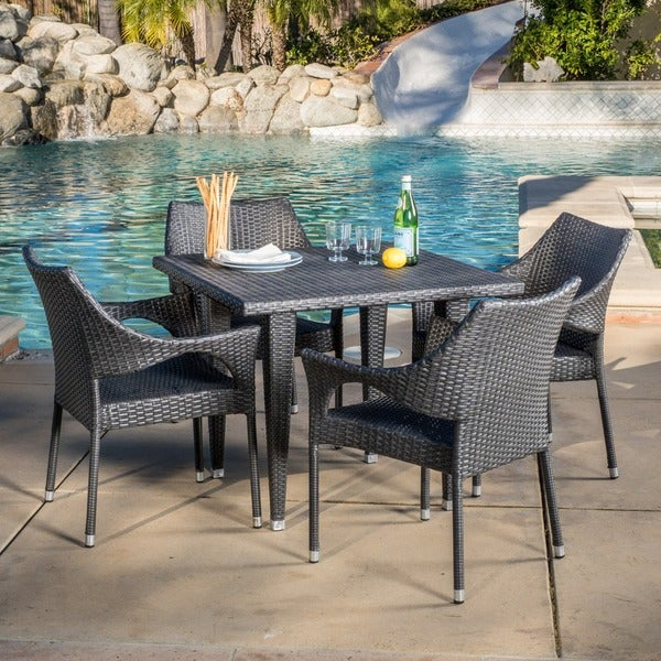Christopher Knight Home Cliff Outdoor 5 piece Wicker