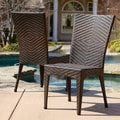 Christopher Knight Home Brooke Outdoor Wicker Chairs (Set of 2)