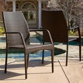 Christopher Knight Home Canoga Outdoor Wicker Chairs (Set of 2)