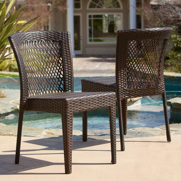 christopher knight home dusk outdoor wicker chairs set of