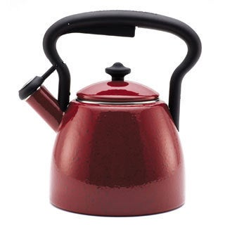 Paula Deen Signature Curvy Speckled Red 2-quart Tea Kettle