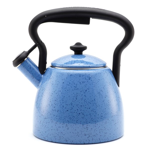 Paula deen signature curvy blueberry 2 quart tea kettle for Alpine cuisine tea kettle