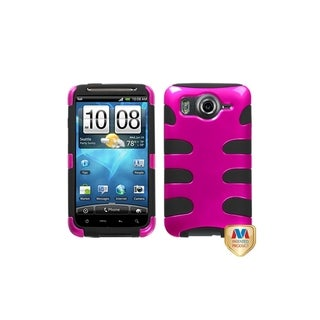 MYBAT Metallic Hot Pink/ Black Fishbone Case for HTC Inspire 4G