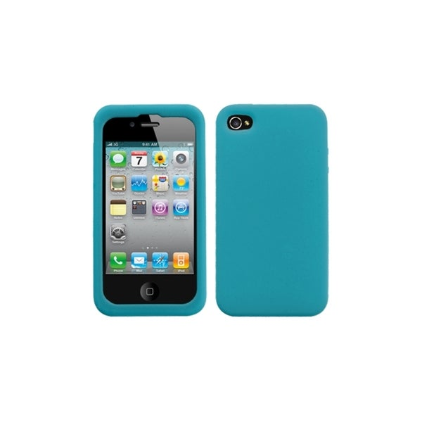 INSTEN Solid Tropical Teal Skin Phone Case Cover for Apple iPhone 4/ 4S