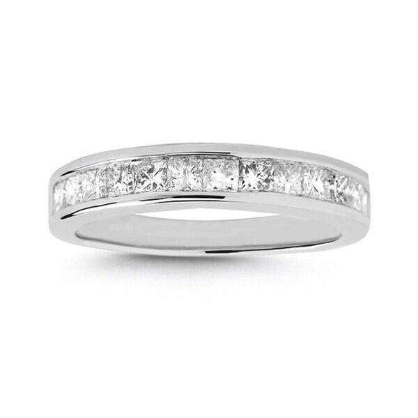 Platinum 1ct TDW Princess-cut Channel Wedding Band (H-I, I1-I2)