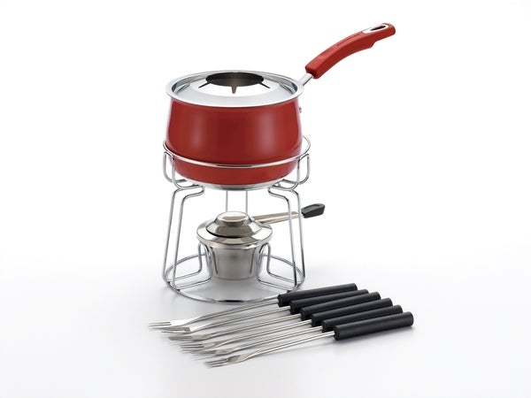 Rachael Ray Stainless Steel II Red 2-quart Fondue Set
