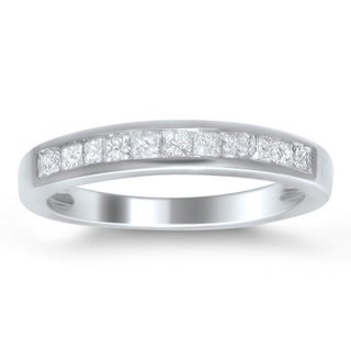 Montebello Platinum 1/2ct TDW Princess-cut Diamond Channel Wedding Band (H-I, I1-I2)