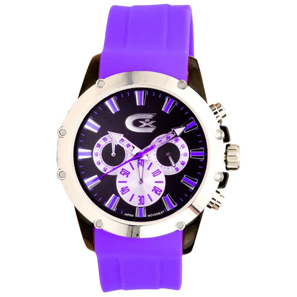 Croton Purple/ Black Chronograph Watch