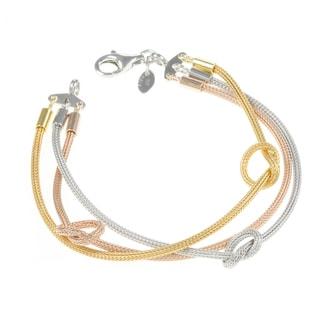 La Preciosa Tri-tone Sterling Silver Knot Bracelet