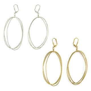 Handmade Edie Triple Oval Earrings (India)