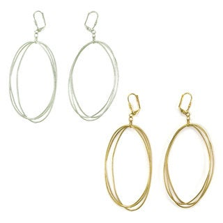 Handmade Edie Triple Oval Earrings (India)