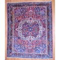 Antique Persian Hand-knotted 1940's Tribal Bakhtiari Rust/ Brown Wool Rug (10' x 13')