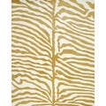 Indo Hand-tufted Ivory/ Gold Wool Rug (8' x 10')