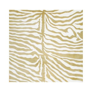 Indo Hand-tufted Ivory/ Gold Wool Rug (6' x 6')