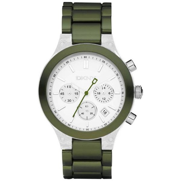 DKNY Women's Green/ Silver Watch