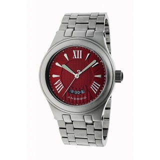 Android Men's Red Spiral Big Date Steel Watch