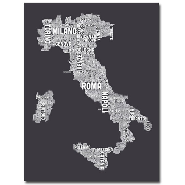 Michael Tompsett 'Italy in Charcoal' Canvas Art