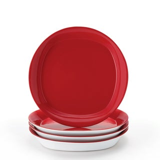 Rachael Ray Red 8.5-inch Salad Plates
