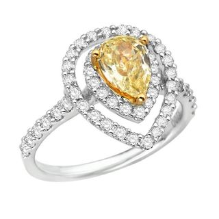 18k Two-tone Gold 1 3/4ct TDW Yellow and White Diamond Ring (G-H, SI1-SI2)