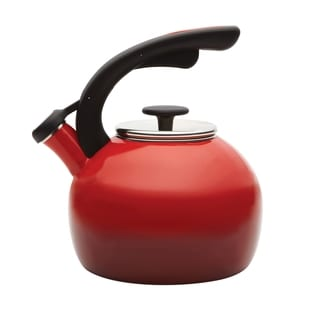 Rachael Ray 'Crescent' Red 2-quart Tea Kettles