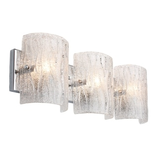 Alternating Current Brillance 3-light Chrome Vanity Fixture
