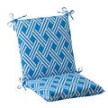 Pillow Perfect Blue Outdoor Carib Squared Chair Cushion
