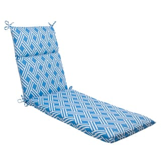 Pillow Perfect Blue Outdoor Carib Chaise Lounge Cushion