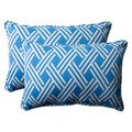 Pillow Perfect Blue Outdoor Carib Corded Oversized Rectangular Throw Pillow (Set of 2)
