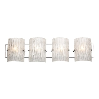 Alternating Current Brillance 4-light Chrome Vanity Fixture