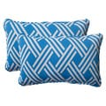 Pillow Perfect Blue Outdoor Carib Corded Rectangular Throw Pillow (Set of 2)