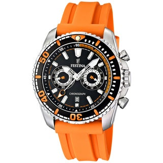Festina Men's 'Sport Giro' Orange/ Black Watch