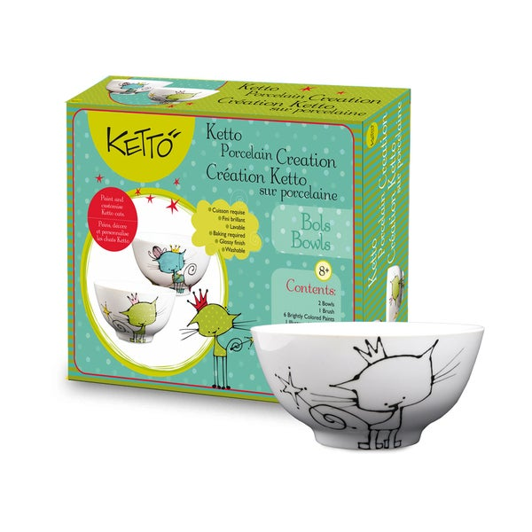 Ketto Paint-it-yourself Bowls Cat Theme