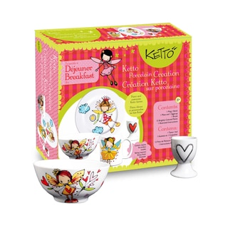 Ketto Paint-it-yourself Breakfast Set Fairy Theme