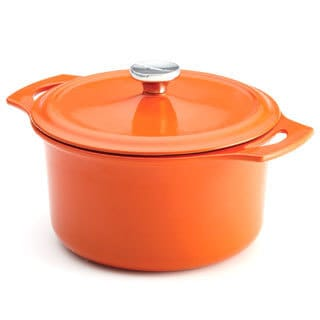 Rachael Ray Orange Cast Iron 5-quart Round Covered Casserole