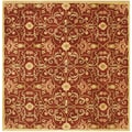 Hand-tufted Alliyah Delhi Burgundy/ Gold New Zealand Wool Rug ( 8' x 8')