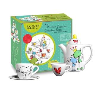 Ketto Paint-it-yourself Tea Set Cat Theme