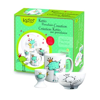 Ketto Paint-it-yourself Breakfast Set Cat Theme
