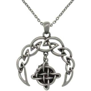 Carolina Glamour Collection Pewter Alloy Celtic Crescent Necklace