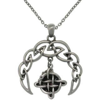 CGC Pewter Alloy Celtic Crescent Necklace