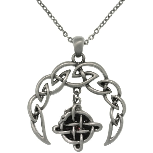 Pewter Alloy Celtic Crescent Necklace 10787804