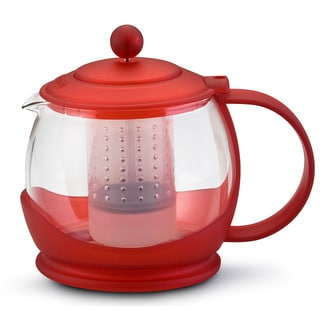 BonJour 'Prosperity' Rouge 1.2-liter Teapot and Shut-off Infuser