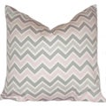 Taylor Marie Studio Bella Pink/ Grey Zig Zag Throw Pillow Cover