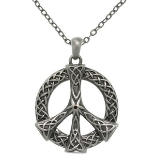 CGC Pewter Alloy Celtic Peace Sign Necklace