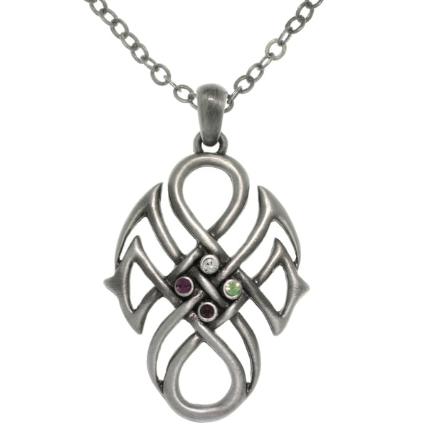 Pewter Alloy Celtic Tribal Knot Necklace 10787889