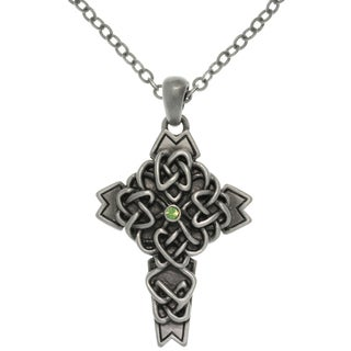 Carolina Glamour Collection Pewter Alloy Celtic Cross Necklace