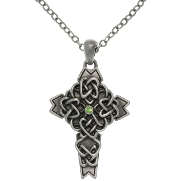 Pewter Alloy Celtic Cross Necklace 10787890